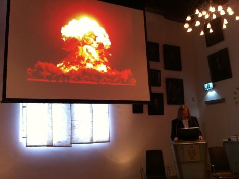 Explosive lecture (from spirituality to nuclear war)