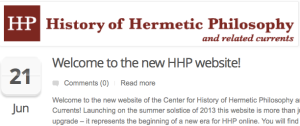 The Amsterdam Center for History of Hermetic Philosophy has a new website.
