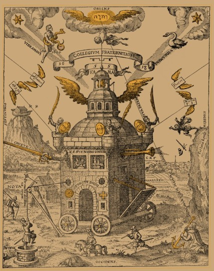 The Temple of the Rosy Cross, figure designed by Theophilius Schweighardt (1616). This version courtesy of Ouroboros Press (2012).